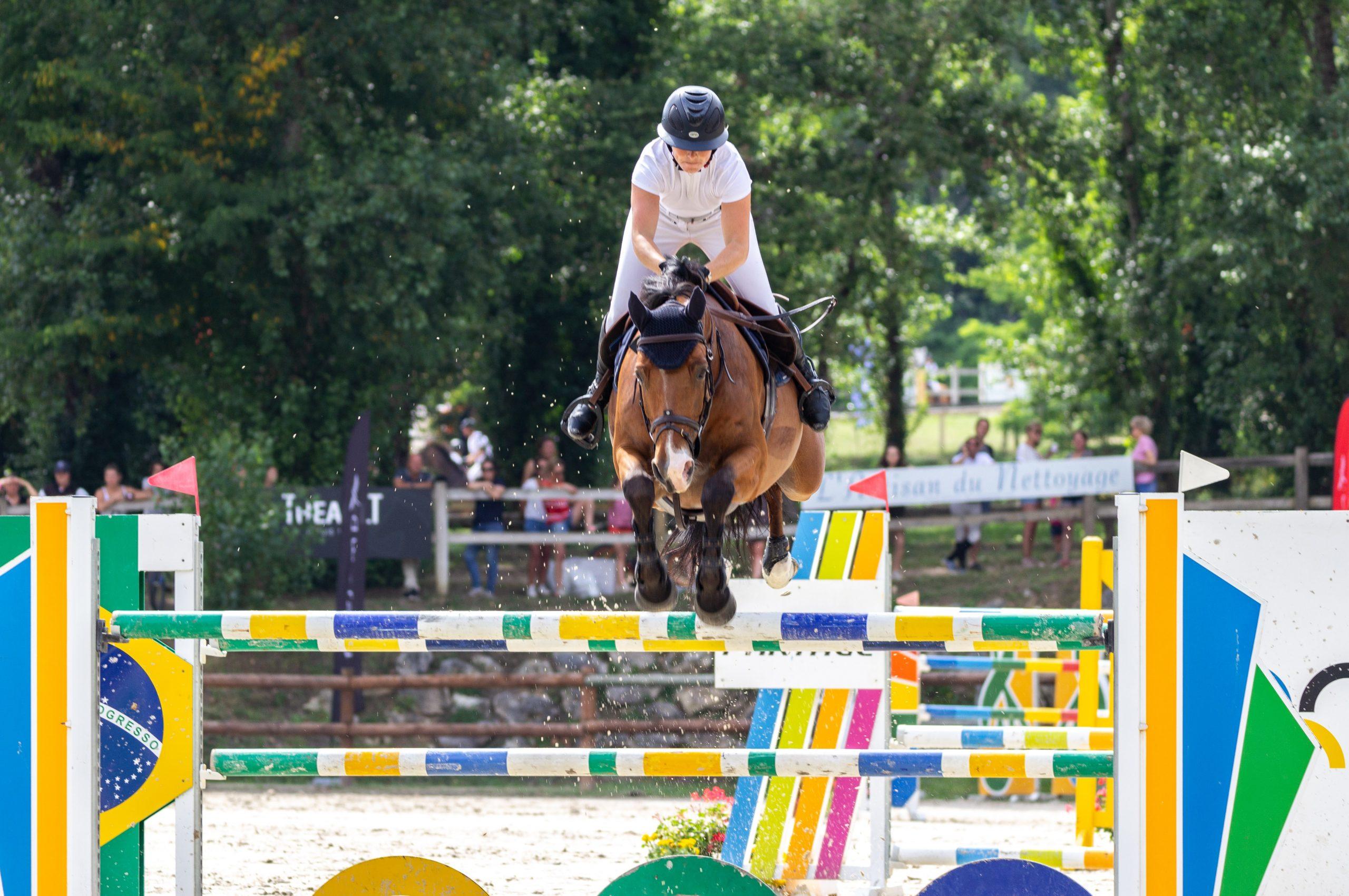 photo concours équitation saut d'obstacles